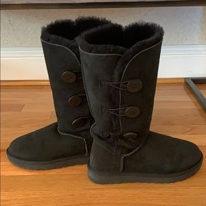 Black Bailey Button tall Ugg boots